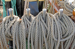 Ropes for the sails Stock Photos