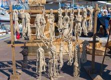 Ropes for sale Imágenes de archivo libres de regalías