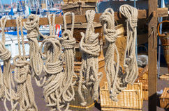 Ropes for sale Royalty Free Stock Photos