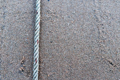 Ropes on sand floor Royalty Free Stock Photography