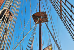 Ropes ship Royalty Free Stock Images