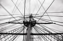 Ropes of a ship Royalty Free Stock Image