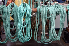 Ropes, ship tackles Royalty Free Stock Image