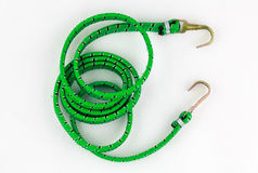 Ropes springs green color Stock Images