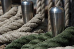 Ropes at a tallship Royalty Free Stock Photography