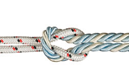 Ropes tied with knot Royalty Free Stock Photography
