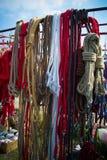 Ropes at  Town Fair. Ropes for horses selling at Town Fair Stock Photography