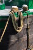 Ropes tying boat (2) Stock Photo