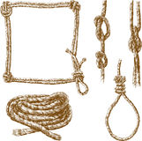 Ropes in various forms Royalty Free Stock Images