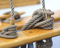 Ropes on a Vessel Royalty Free Stock Image