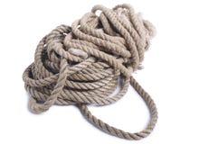 Ropes on white Stock Photo