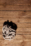 Ropes on a wooden Royalty Free Stock Photo