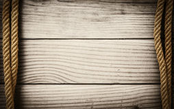 Ropes on wooden background Royalty Free Stock Photo
