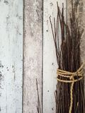 Ropes on wooden background Stock Images