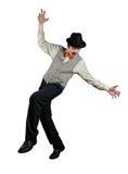 Ropewalker in black hat Stock Photo