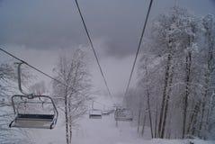 Ropeway στα βουνά Στοκ φωτογραφία με δικαίωμα ελεύθερης χρήσης
