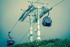 Ropeway στα υψηλά βουνά Tatras, Σλοβακία Στοκ εικόνες με δικαίωμα ελεύθερης χρήσης