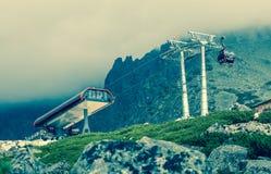 Ropeway στα υψηλά βουνά Tatras, Σλοβακία Στοκ Εικόνες