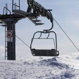Ropeway на лыжном курорте Стоковая Фотография RF