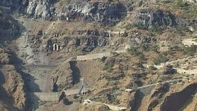 Ropeway aérien Santorini La Grèce clips vidéos