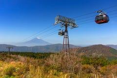 Ropeway aan het Onderstel Fuji, Japan royalty-vrije stock fotografie