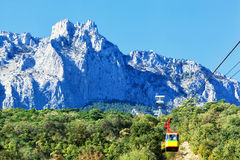 Ropeway on Ai-Petri Royalty Free Stock Photography
