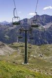 Ropeway ao La Thuile de Muret Imagem de Stock Royalty Free