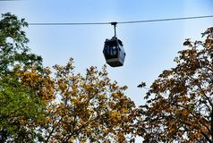 Ropeway in Barcelona Stock Photo
