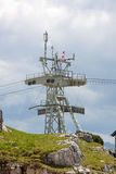 Ropeway cable tower Royalty Free Stock Photography