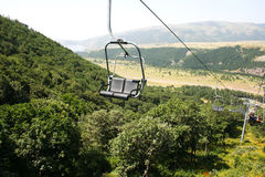 Ropeway dans Jermuk Images stock