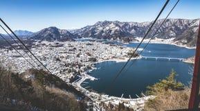 Ropeway di Kawaguchi del lago (Kyoto, Giappone) Fotografia Stock