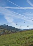 Ropeway do recurso de montanha Foto de Stock