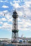 Ropeway em Barcelona, Spain Imagens de Stock