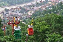 Ropeway em Haridwar. Foto de Stock Royalty Free