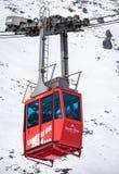 Ropeway em Tatras alto, Eslováquia Fotografia de Stock