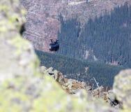 Ropeway Funitel em baixo Tatras, Eslováquia Imagem de Stock
