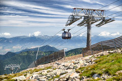 Ropeway Funitel in Low Tatras mountains, Slovakia Stock Photo