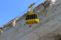 Ropeway and grottoes in Rosh Haikra Royalty Free Stock Photo