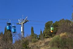 Ropeway in Yalta Royalty Free Stock Photos
