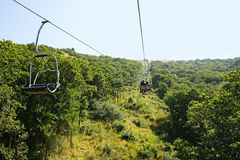 Ropeway In Jermuk Royalty Free Stock Photography
