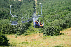 Ropeway in Jermuk Royalty-vrije Stock Foto