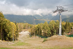 Ropeway on the Krasnaya Polyana Stock Images