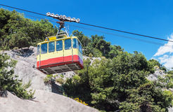 Ropeway leading into the mountains Royalty Free Stock Photo