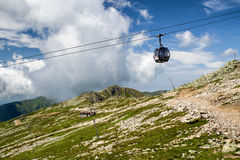 Ropeway in Low Tatras mountains, Slovakia Stock Images