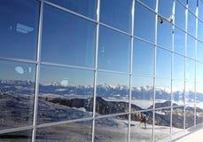 Ropeway moderno FUNITEL no monte Chopok - baixo Tatras, Eslováquia Fotos de Stock