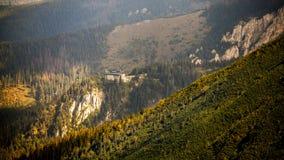 Ropeway in montagne Fotografia Stock Libera da Diritti