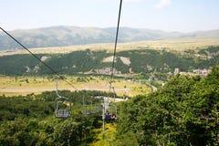 Ropeway in Jermuk. Ropeway in mountain city Jermuk, Armenia Stock Image