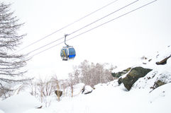 Ropeway in the  mountains Royalty Free Stock Images