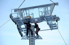 Ropeway mounting Stock Photo