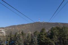 Ropeway na parte superior a montanha Mashuk Fotos de Stock